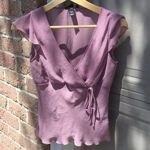 Lavender delicate sheer blouse from H&M